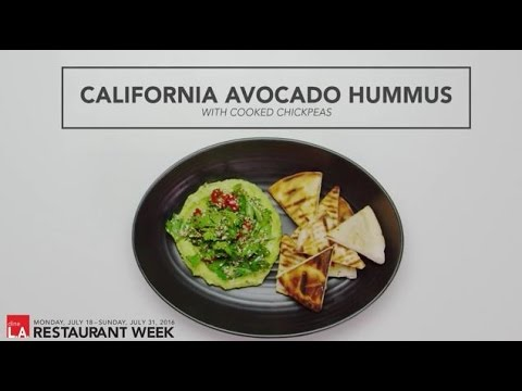 dineL.A. Restaurant Week - California Avocado Hummus by Ted Hopson of The Bellwether