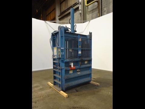 Used- Marathon Vertical Baler, Model V-6030, Carbon Steel - stock # 48638003
