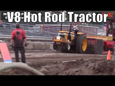 V8 Hot Rod Tractor Class Tractor Pulls From TTPA In Bay City Michigan 2018