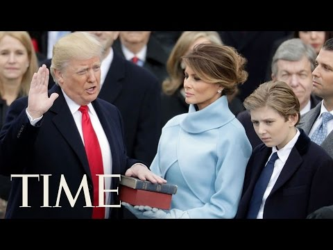 Donald Trump Takes The Presidential Oath   TIME