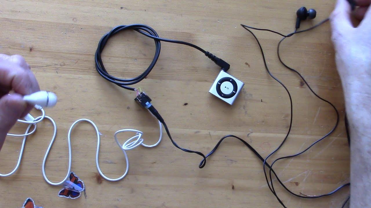 Audio Splitter Diy How To Make 3 5 Mm Earphones Or