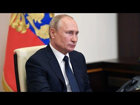 Встреча Владимира Путина с рабочей группой по поправкам в Конституцию РФ. Полное видео
