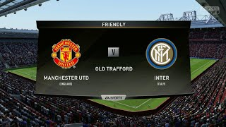 Manchester United vs Inter||Club Friendly Match||HD Gameplay||Fifa19||Highlights||