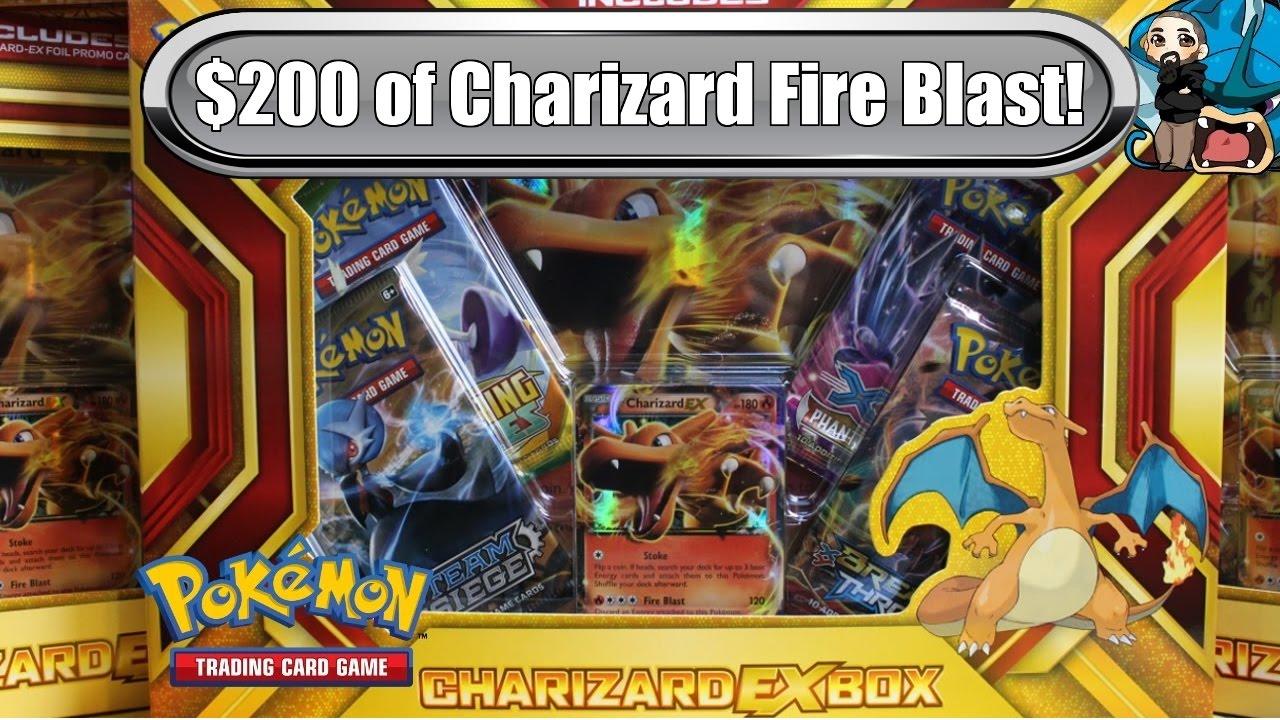 Opening 10x Charizard EX Boxes! New Fire Blast Box! $200 worth - Pokemon TCG unboxing