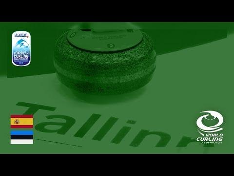 Spain v Estonia - B-Division men - Le Gruyère AOP European Curling Championships 2018
