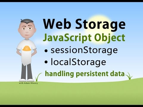 JavaScript Storage Interface sessionStorage localStorage Tutorial - UCpzRDg0orQBZFBPzeXm1yNg