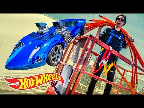 WE MESS UP A LOT...CAR JUMP BLOOPERS! | Hot Wheels Unlimited: Track Builder Edition | Hot Wheels