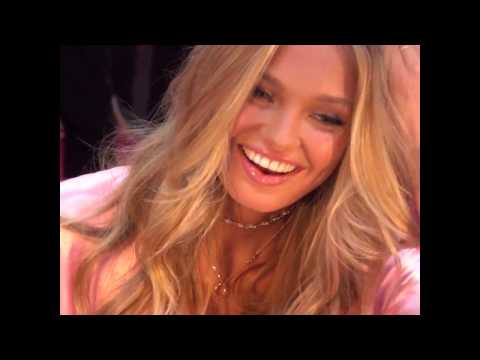 Romee Strijd uses The Beachwaver® backstage to get sexy, Victoria's Secret Hair!