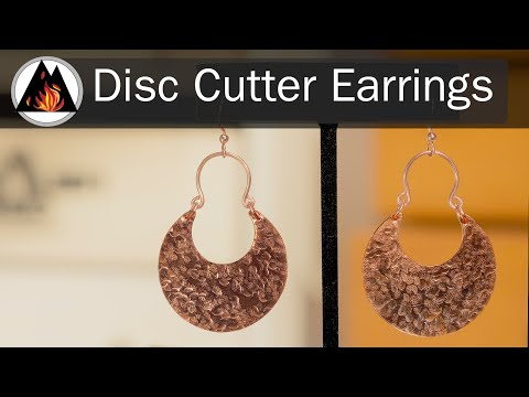 DIY Earrings Using a Disc Cutter