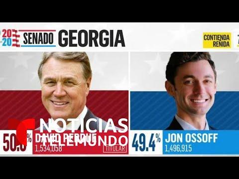 Se mantiene reñida la batallada por el Senado en Georgia cuando faltan por contar condados clave