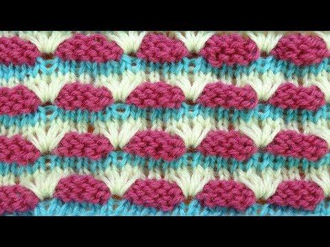 Фантазийный узор спицами для шапки   Knitting stitches   57