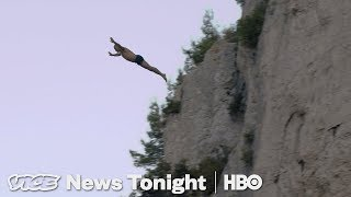 Watch France's Most Famous Cliff Diver Attempt To Break A New World Record