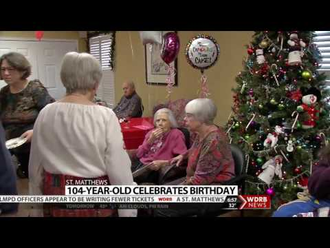 WDRB - St. Matthews' resident Marie Cassidy's turns 104