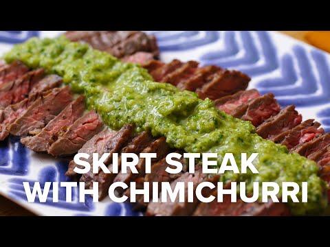 Skirt Steak With Charred Chimichurri ? Tasty Recipes