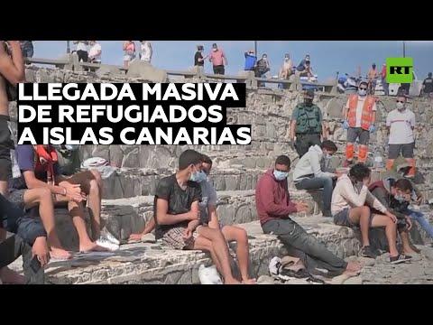 Las islas Canarias, desbordadas por la llegada masiva de inmigrantes