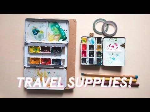 Art Supplies I Travel With! ( + Sketchbook Tour + Vlog!)