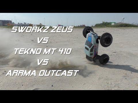 Sworkz Zeus vs Tekno MT 410 vs Arrma Outcast - default