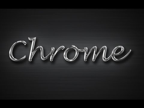Learn how to create a chrome style text effect in adobe photoshop.