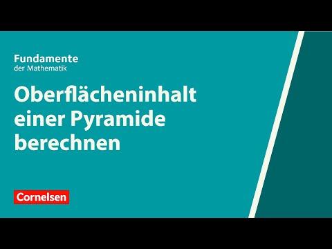 Oberflächeninhalt einer Pyramide berechnen   Fundamente der Mathematik   Erklärvideo