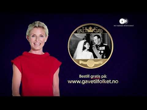 60 SEK REKLAME Gullbryllupsmedaljen