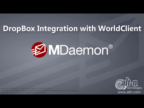 MDaemon tutorial - How to Send & Receive Dropbox Files in WorldClient