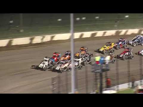USAC NOS Energy Drink National Midget Highlights | Eldora Speedway | 4-Crown Nationals | 9/25/2021 - dirt track racing video image