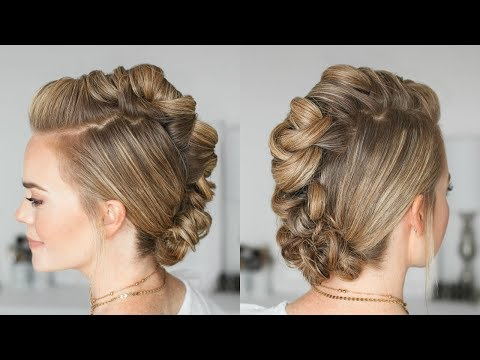 Wrapped Mohawk Updo | Missy Sue