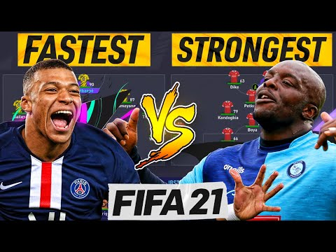 FASTEST TEAM ⚡ vs STRONGEST TEAM 💪 FIFA 21 EXPERIMENT (FIFA 21 GIVEAWAY)