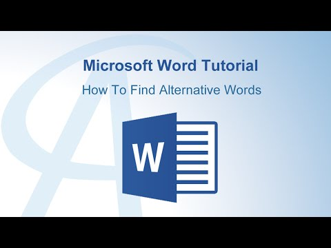 How To Find Alternative Words In Microsoft Word