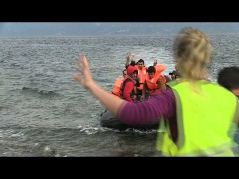 Migrants continue to arrive on the shores of Lesbos
