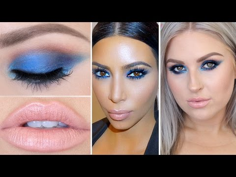 Kim Kardashian Inspired Blue Eyeshadow ? Celebrity Makeup Tutorial