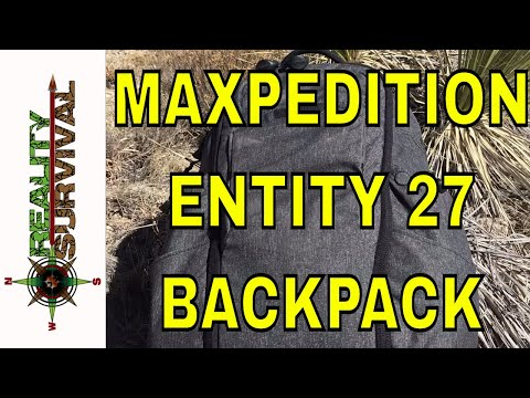 Maxpedition Entity 27 Backpack Review - A Sweet Grayman Urban Survival Pack!