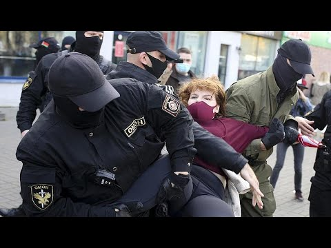 Belarus: More than 200 arrested at anti-government women's march in Minsk