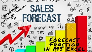 Forecast Function in MS Excel - YouTube