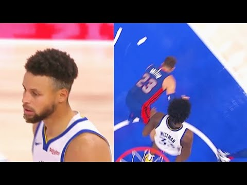 Stephen Curry Takes Over After James Wiseman Takes Out Blake Griffin! Warriors vs Pistons