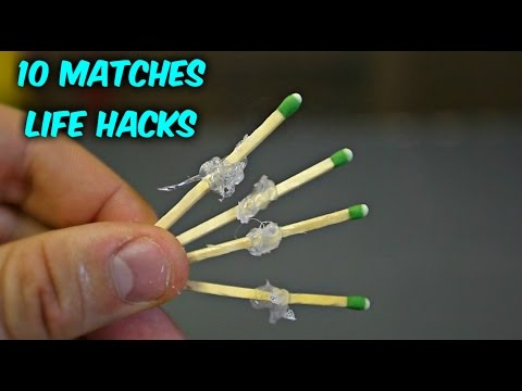 10 Match Life Hacks - Compilation - UCe_vXdMrHHseZ_esYUskSBw