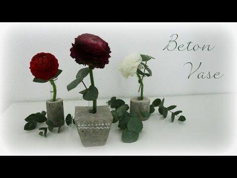 Beton Blumenvase * DIY * Concrete Vase