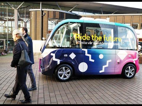 Självkörande bussar på Campus Valla