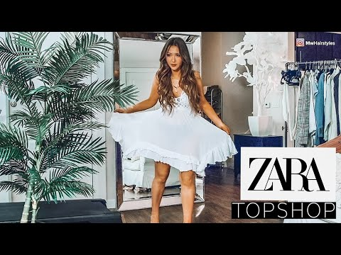 ? HUGE ZARA TOPSHOP HAUL & TRY-ON 2019 ? SPRING-SUMMER OUTFIT IDEAS
