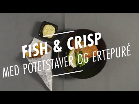 Fish and Crisp med potetstaver og ertepuré
