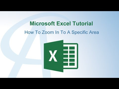 How To Zoom In Excel