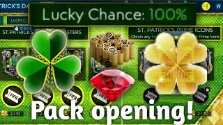 St patrick's day pack opening ●100% lucky chance ● I Packed a St Patrick's day player in FIFA Mobile