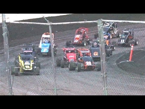 600 Micro Sprint MAIN 6-25-17 Petaluma Speedway - dirt track racing video image