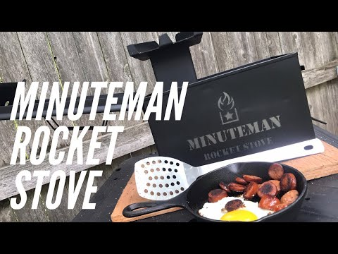 Minuteman Rocket Stove: Beefy and Made To Last for Car Camping, Emergency, Bug Out and More