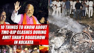 10 Things To Know About TMC-BJP Clashes During Amit Shah's Roadshow In Kolkata