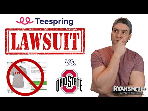 Teespring SUED for $1M in Print on Demand IP Infringement Lawsuit!