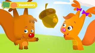Learning First Words for Babies | We Found The Acorn with Sammy and Eve | Baby Sensory Stimulation
