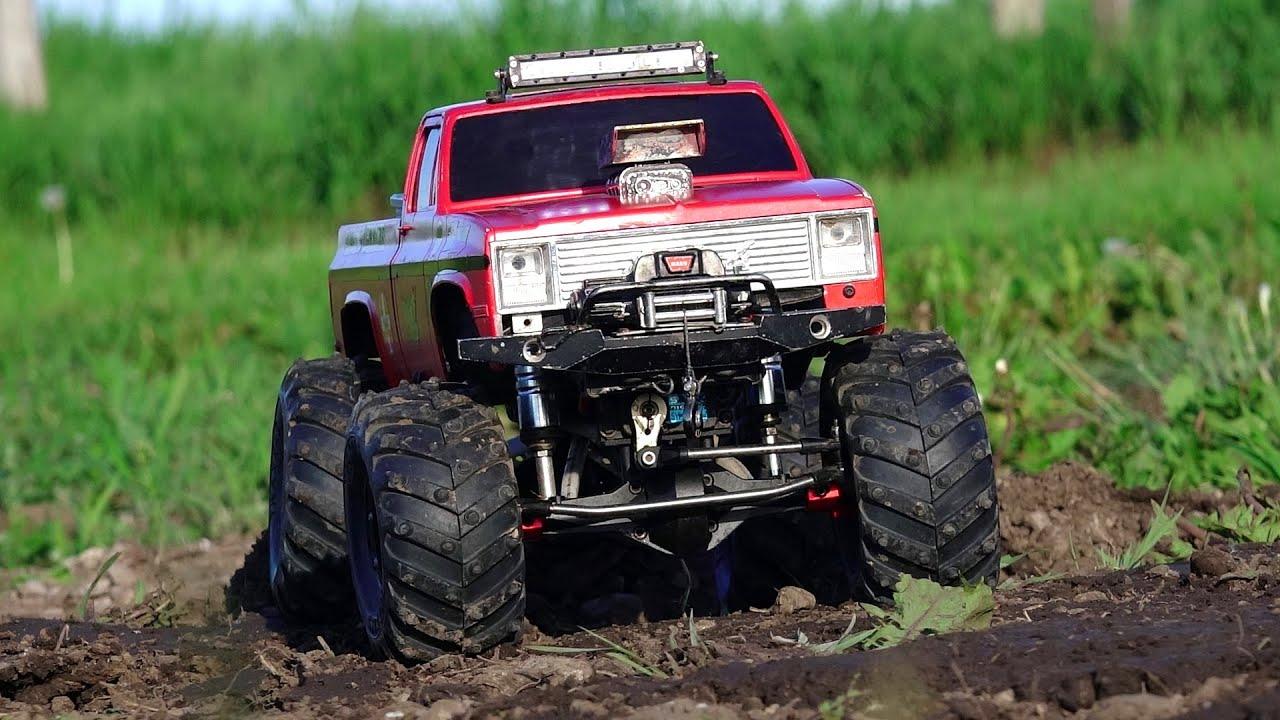 RC ADVENTURES - Backyard MUD Bog - Three 4x4 Scale Trail Trucks in a