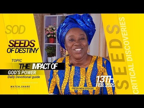 Dr. Becky Paul-Enenche - SEEDS OF DESTINY - THURSDAY 13TH FEBRUARY, 2020