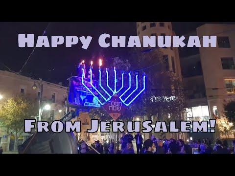 Lighting The Menorah In Jerusalem